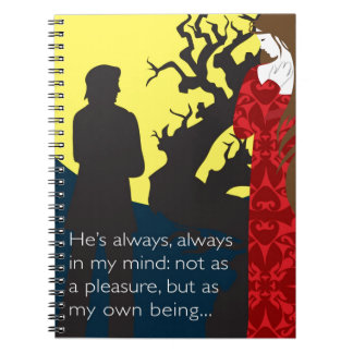 Emily Bronte / Wuthering Height gift design with q Notebook