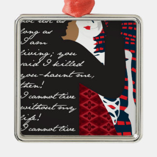 Emily Bronte / Wuthering Height gift design with q Christmas Ornament