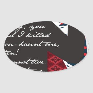Emily Bronte / Wuthering Height gift design with q Oval Sticker