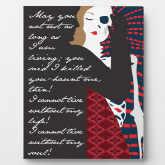 Emily Bronte / Wuthering Height gift design with q Photo Plaque