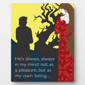 Emily Bronte / Wuthering Height gift design with q Plaque