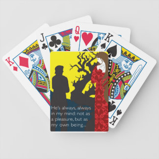 Emily Bronte / Wuthering Height gift design with q Poker Cards