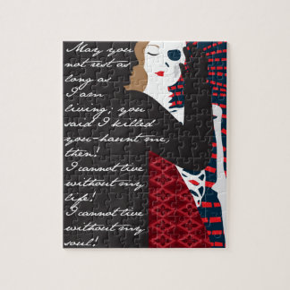 Emily Bronte / Wuthering Height gift design with q Jigsaw Puzzles