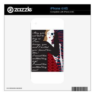 Emily Bronte / Wuthering Height gift design with q iPhone 4S Decals