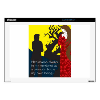 Emily Bronte / Wuthering Height gift design with q Decal For Laptop