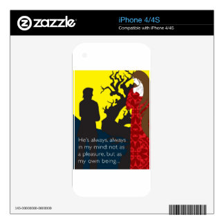 Emily Bronte / Wuthering Height gift design with q Skins For iPhone 4