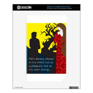 Emily Bronte / Wuthering Height gift design with q NOOK Color Decals