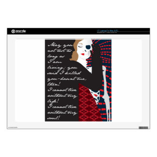 """Emily Bronte / Wuthering Height gift design with q 17"""" Laptop Skins"""