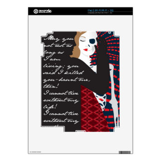 Emily Bronte / Wuthering Height gift design with q iPad 2 Skin