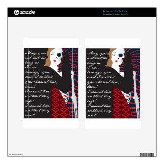 Emily Bronte / Wuthering Height gift design with q Decals For Kindle Fire