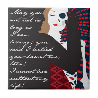 Emily Bronte / Wuthering Height gift design with q Tiles