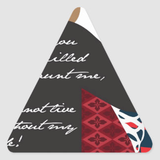 Emily Bronte / Wuthering Height gift design with q Triangle Sticker