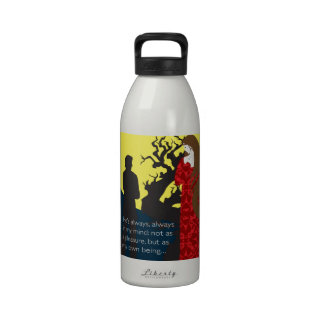 Emily Bronte / Wuthering Height gift design with q Reusable Water Bottle