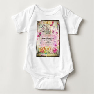 Emily Brontë, Wuthering Heights quote Baby Bodysuit