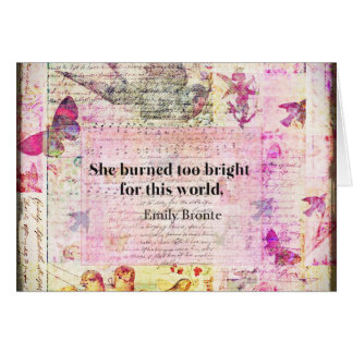 Emily Brontë, Wuthering Heights quote Card