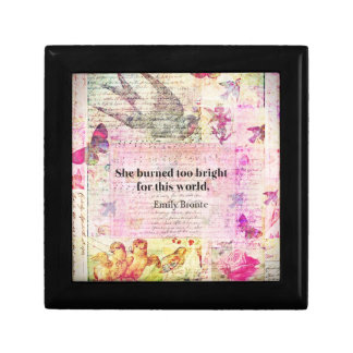 Emily Brontë, Wuthering Heights quote Trinket Box