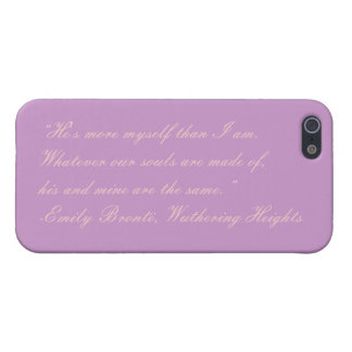 Emily Bronte, Wuthering Heights Quote iPhone Case