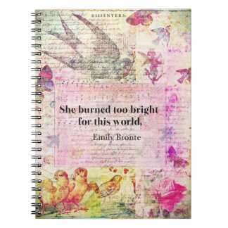 Emily Brontë, Wuthering Heights quote Note Books
