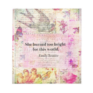 Emily Brontë, Wuthering Heights quote Notepads