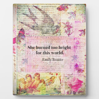 Emily Brontë, Wuthering Heights quote Photo Plaques