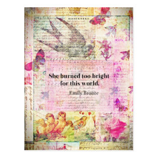 Emily Brontë, Wuthering Heights quote Post Cards