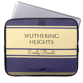 Emily Bronte Wuthering Heights Vintage Style Book Laptop Sleeve