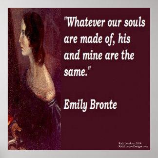 Emily Bronte y famoso nuestro poster de la cita de