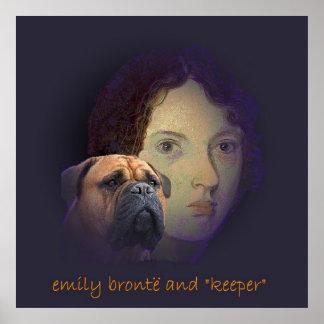 """Emily Bronte y su perro """"encargado """" Impresiones"""