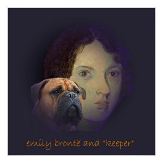 """Emily Bronte y su perro """"encargado """" Póster"""