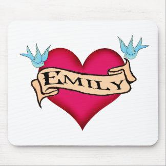 Emily - camisetas y regalos de encargo del tatuaje alfombrillas de ratones