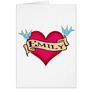 Emily - camisetas y regalos de encargo del tatuaje felicitaciones