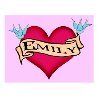 Emily - camisetas y regalos de encargo del tatuaje postal