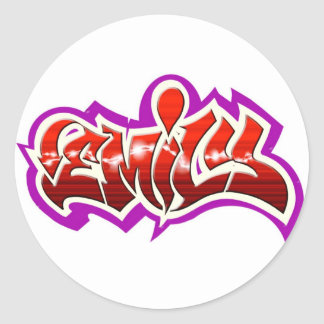 emily classic round sticker