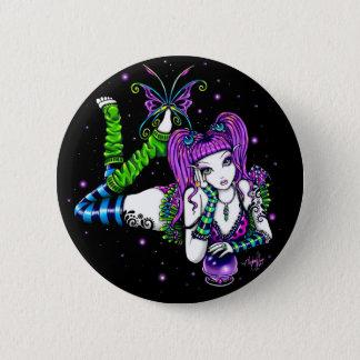 Emily Crystal Ball Rainbow Fairy Button