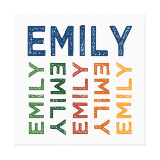 Emily Cute Colorful Canvas Print