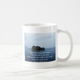 Emily Dickenson Inspirational  QUOTE for Healing Mug