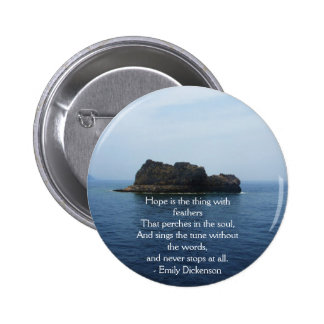 Emily Dickenson Inspirational  QUOTE for Healing Pinback Button
