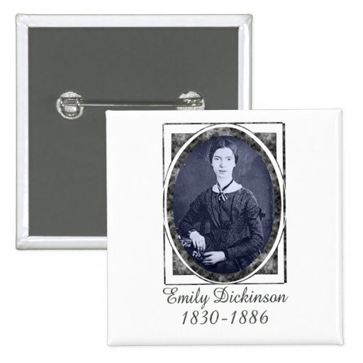 Emily Dickinson 2 Inch Square Button