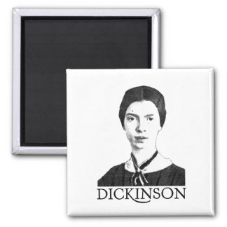 Emily Dickinson 2 Inch Square Magnet