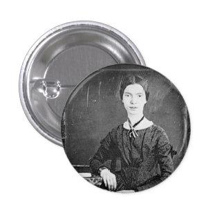 Emily Dickinson Black & White Portrait Pinback Button