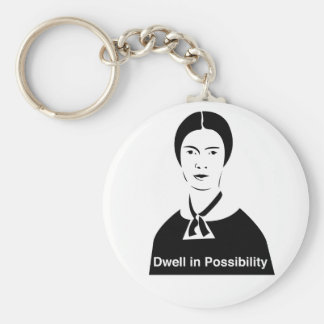 Emily Dickinson Dwell in Possibility Key Chain