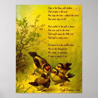 "Emily Dickinson ""Hope"" Canvas Print"