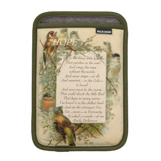 "Emily Dickinson ""Hope"" is the Thing with Feathers Sleeve For iPad Mini"