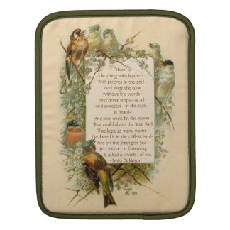 """Emily Dickinson """"Hope"""" is the Thing with Feathers Sleeve For iPads"""