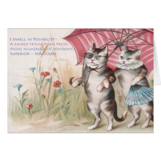 Emily Dickinson - I Dwell in Possibility Greeting Card