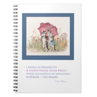 Emily Dickinson - I Dwell in Possibility Spiral Notebook