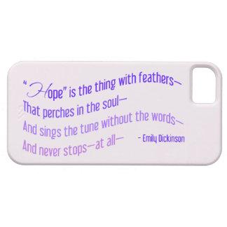 Emily Dickinson - la esperanza es la cosa con las iPhone 5 Fundas