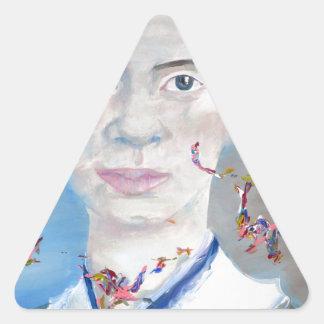 emily dickinson - oil portrait.2 triangle sticker