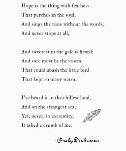emily dickinson poems hope