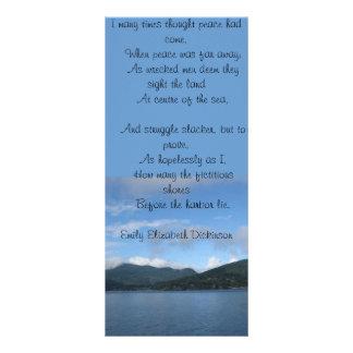 Emily Dickinson Poetry Bookmark Rack Card